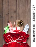 santa claus bag full by present ... | Shutterstock . vector #530054737