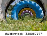 colorful tunnel old used car... | Shutterstock . vector #530057197