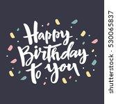 happy birthday card design | Shutterstock .eps vector #530065837