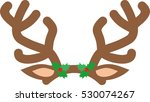 antlers of a reindeer on white... | Shutterstock .eps vector #530074267