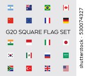 a vector collection of the g20... | Shutterstock .eps vector #530074327