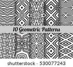 set of 10 abstract patterns.... | Shutterstock .eps vector #530077243