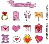 various element valentine days... | Shutterstock .eps vector #530083843