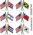 american friendship flags 2 | Shutterstock .eps vector #53008744