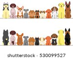 small and large dogs border set ... | Shutterstock .eps vector #530099527