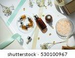 cosmetic brown bottle... | Shutterstock . vector #530100967