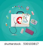 mediacal first aid kit with...   Shutterstock . vector #530103817