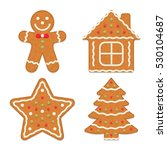 gingerbread cookies  vector... | Shutterstock .eps vector #530104687