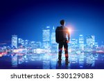 businessman thinking and... | Shutterstock . vector #530129083