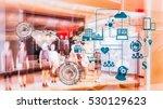 marketing data management...   Shutterstock . vector #530129623