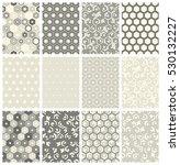 seamless geometric pattern set. ... | Shutterstock .eps vector #530132227
