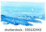 hand painted watercolor winter... | Shutterstock .eps vector #530132443