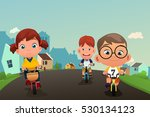 a vector illustration of happy... | Shutterstock .eps vector #530134123