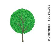 vector illustration of green... | Shutterstock .eps vector #530141083