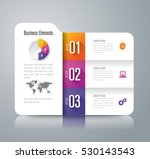 folder infographic design... | Shutterstock .eps vector #530143543