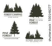 fir trees silhouette logo plant ... | Shutterstock .eps vector #530148277