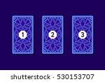 three card tarot spread....   Shutterstock .eps vector #530153707