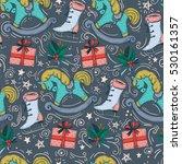 vector pattern of christmas... | Shutterstock .eps vector #530161357