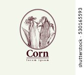 vector logo of corn on the cob... | Shutterstock .eps vector #530165593