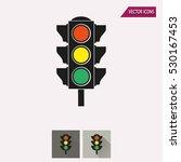 traffic light vector icon.... | Shutterstock .eps vector #530167453