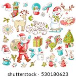 big vector collection of new... | Shutterstock .eps vector #530180623