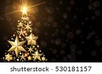 background with golden abstract ... | Shutterstock .eps vector #530181157