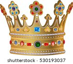 royal gold crown | Shutterstock .eps vector #530193037