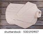 white warm winter sweater.... | Shutterstock . vector #530193907