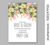 wedding invitation floral... | Shutterstock .eps vector #530197933