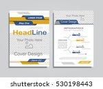 brochure design layout with... | Shutterstock .eps vector #530198443