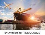 logistics and transportation of ... | Shutterstock . vector #530200027