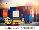 industrial container cargo... | Shutterstock . vector #530200033