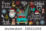 christmas and new year hand... | Shutterstock .eps vector #530211343