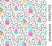 ice cream geometric seamless... | Shutterstock .eps vector #530217523