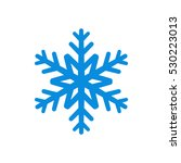 snowflake icon. blue silhouette ... | Shutterstock .eps vector #530223013