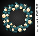 illustration christmas wreath... | Shutterstock .eps vector #530226097