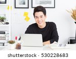 young asian entrepreneur | Shutterstock . vector #530228683