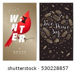 christmas and new year's... | Shutterstock .eps vector #530228857