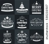 set of merry christmas and...   Shutterstock .eps vector #530233507