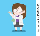 scientist girl with lab coat... | Shutterstock .eps vector #530236633