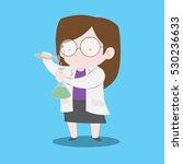 scientist girl with lab coat... | Shutterstock .eps vector #530236633