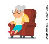 sit rest granny old lady... | Shutterstock .eps vector #530249857