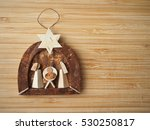 Tiny Wooden Nativity Scene  ...