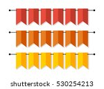 bright banner as bunting flags... | Shutterstock . vector #530254213