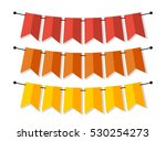 bright banner as bunting flags... | Shutterstock . vector #530254273