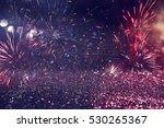 abstract holiday firework... | Shutterstock . vector #530265367