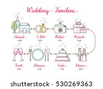 wedding timeline infographic  | Shutterstock .eps vector #530269363