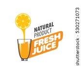 logo of fresh juice | Shutterstock .eps vector #530271073
