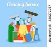 cleaning service flat... | Shutterstock .eps vector #530272087
