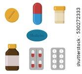 pills capsules icons vector... | Shutterstock .eps vector #530272333